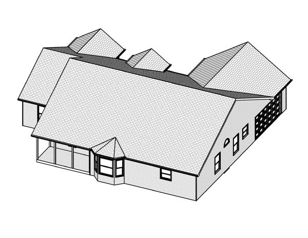 Traditional House Plan 70139 Rear Elevation