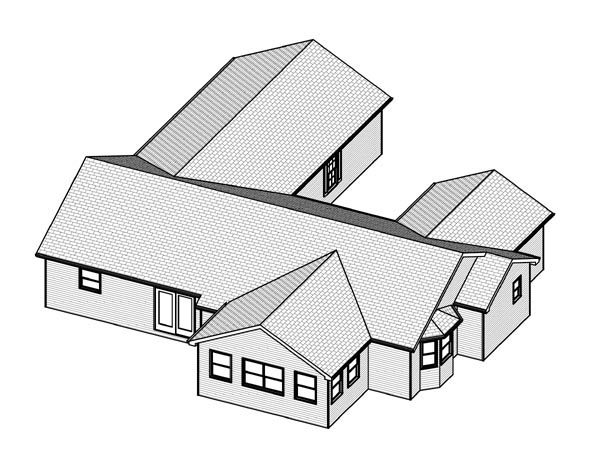 Traditional House Plan 70145 Rear Elevation
