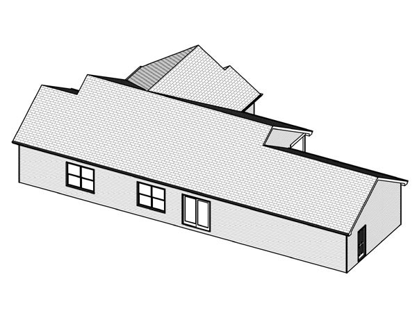 Traditional House Plan 70151 Rear Elevation