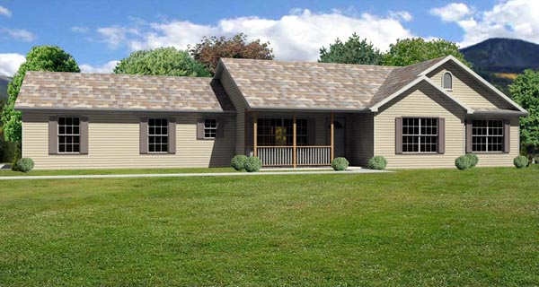 Traditional House Plan 70152 Elevation