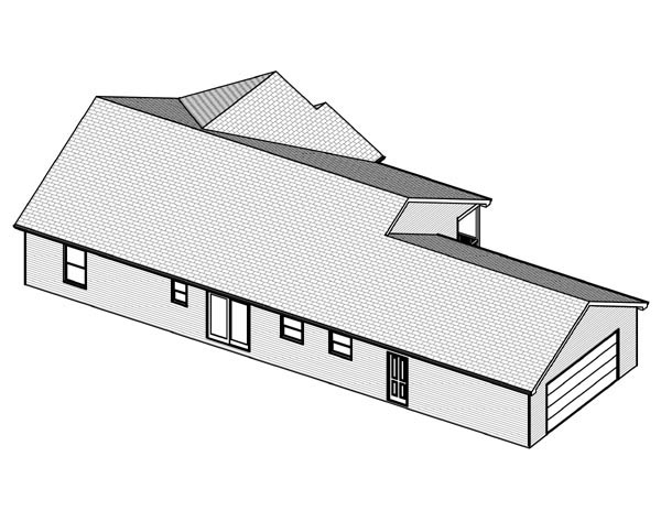 Traditional House Plan 70152 Rear Elevation