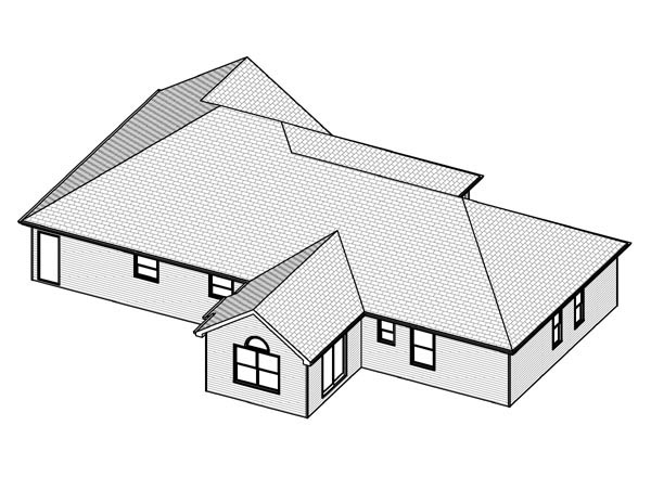 Traditional House Plan 70163 Rear Elevation