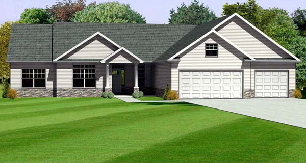 Traditional House Plan 70165 Elevation
