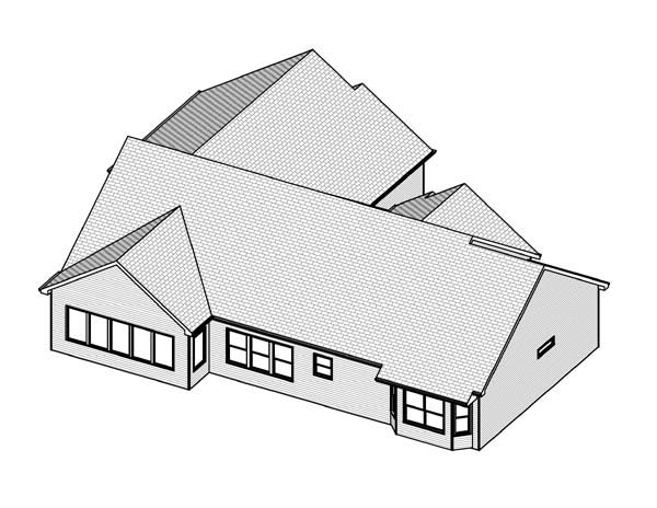 Traditional House Plan 70165 Rear Elevation