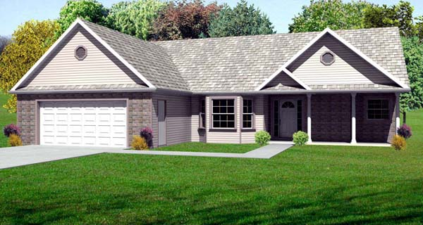 Traditional House Plan 70174 Elevation