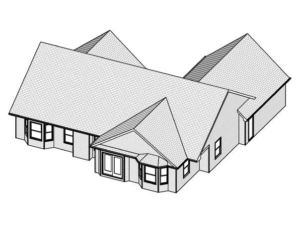 Traditional House Plan 70174 Rear Elevation
