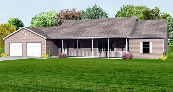 Traditional House Plan 70185 Elevation