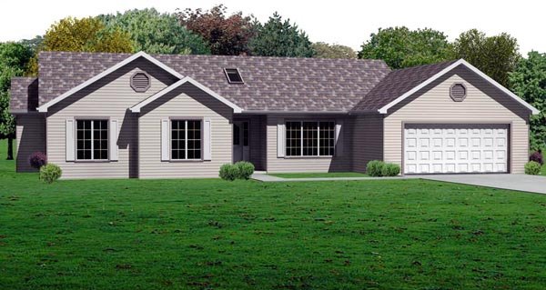Traditional House Plan 70189 Elevation