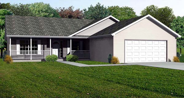 Traditional House Plan 70190 Elevation