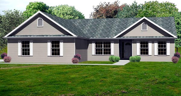 Traditional House Plan 70195 Elevation