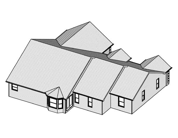 Traditional House Plan 70300 Rear Elevation
