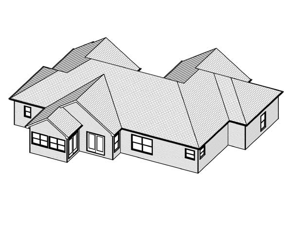 Traditional House Plan 70301 Rear Elevation