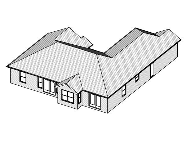 Traditional House Plan 70303 Rear Elevation