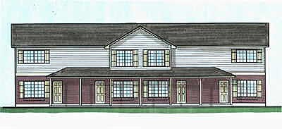 Colonial Multi-Family Plan 70451 Elevation
