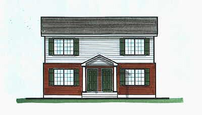 Colonial Multi-Family Plan 70456 with 4 Beds, 4 Baths Elevation