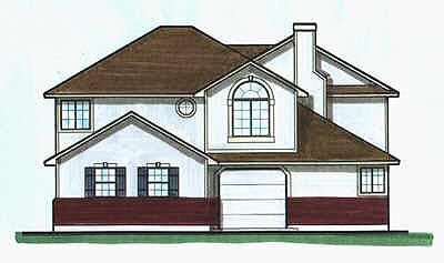 Traditional Multi-Family Plan 70458 with 6 Beds, 4 Baths, 2 Car Garage Elevation