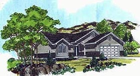 Plan Number 70525 - 1059 Square Feet