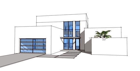 Contemporary Modern House Plan 70801 Elevation