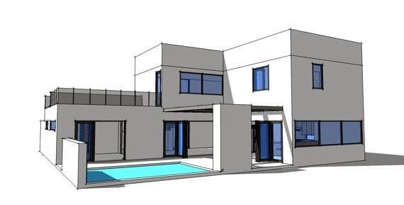 Contemporary Modern House Plan 70801 Rear Elevation