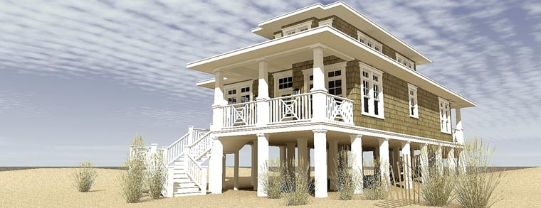 Coastal Craftsman House Plan 70806 Elevation