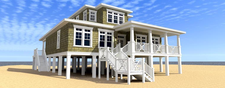 Coastal Style House Plan 70808 With 2 Bed 3 Bath