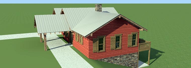 House Plan 70810 with 3 Beds, 4 Baths, 2 Car Garage Picture 4
