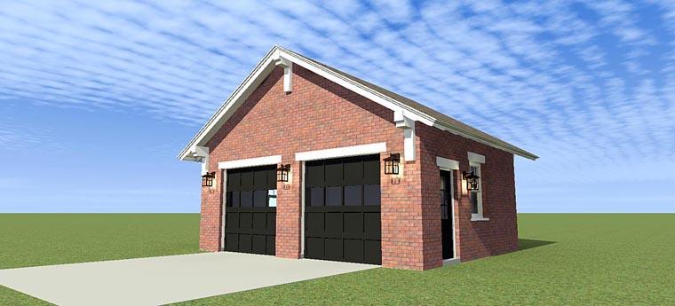 Garage Plan 70812 Elevation