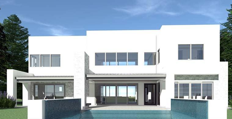 Modern House Plan 70823 Rear Elevation