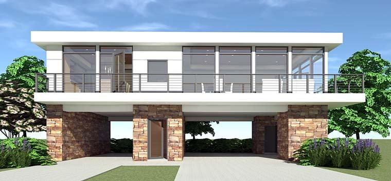 Modern House Plan 70828 Elevation
