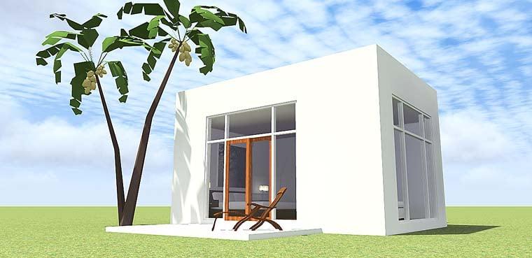 Coastal, Modern House Plan 70838 with 1 Beds, 1 Baths Elevation
