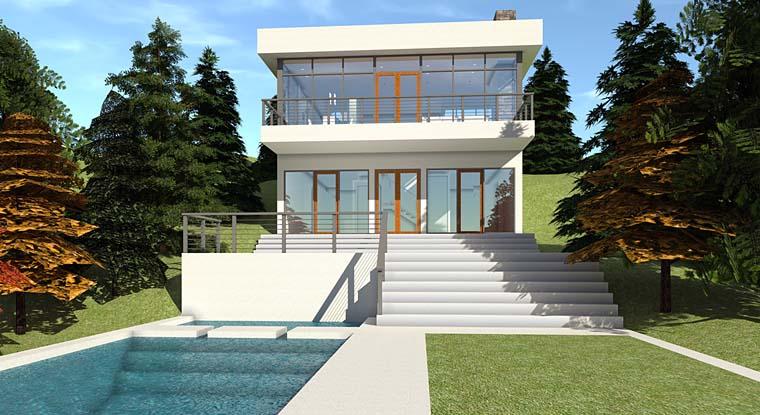 Modern House Plan 70843 Elevation