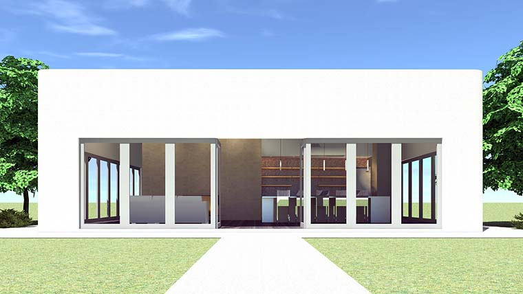 Modern House Plan 70846 with 1 Beds, 1 Baths Elevation