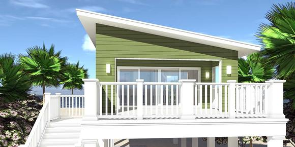 Coastal, Contemporary, Cottage House Plan 70851 with 1 Beds, 1 Baths, 2 Car Garage Elevation