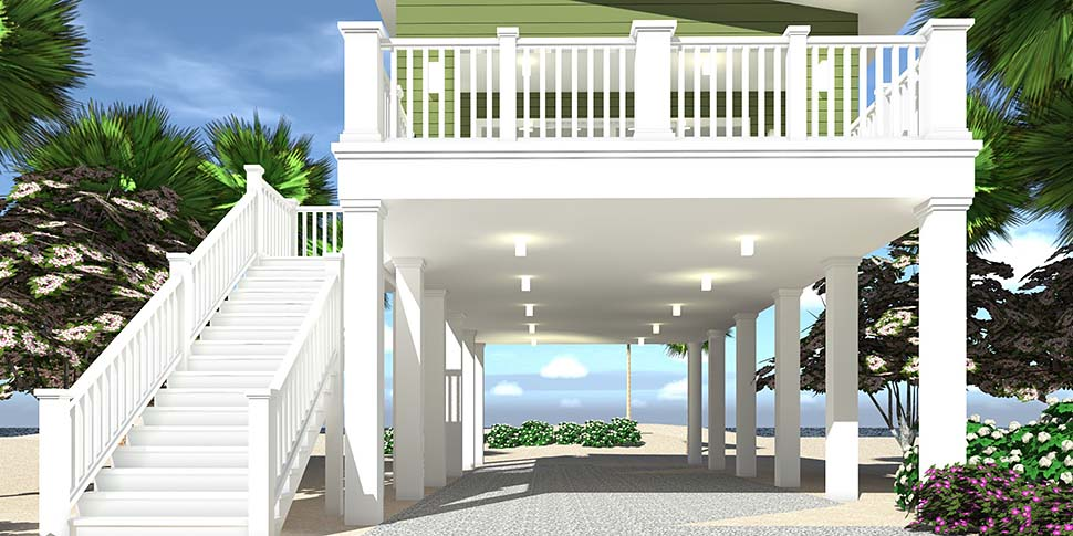 Coastal, Contemporary, Cottage House Plan 70851 with 1 Beds, 1 Baths, 2 Car Garage Picture 1