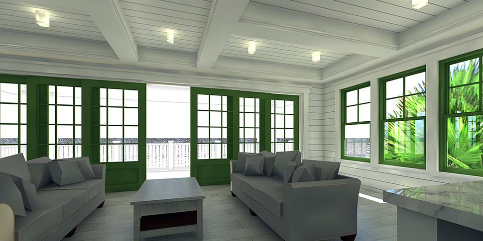 Coastal House Plan 70853 with 4 Beds, 4 Baths, 4 Car Garage Picture 3