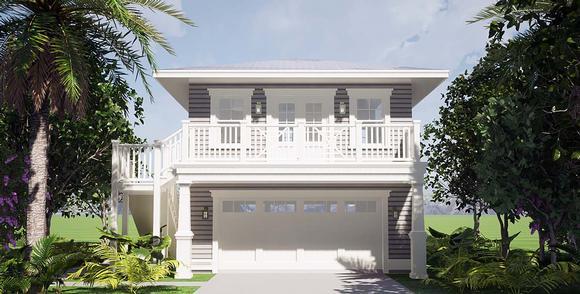 Coastal Garage-Living Plan 70858 with 1 Beds, 1 Baths, 2 Car Garage Elevation