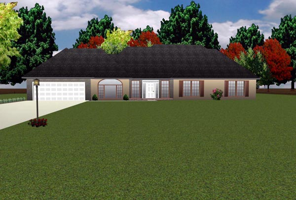 Country House Plan 70938 with 3 Beds, 3 Baths, 2 Car Garage Elevation