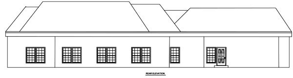 Country House Plan 70938 with 3 Beds, 3 Baths, 2 Car Garage Rear Elevation