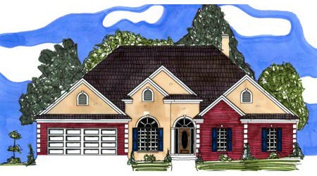Victorian House Plan 71429 with 4 Beds, 3 Baths, 2 Car Garage Elevation