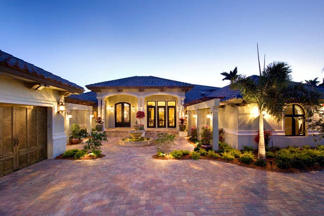house plan 71501 at familyhomeplans com naples florida architect port royal custom house design