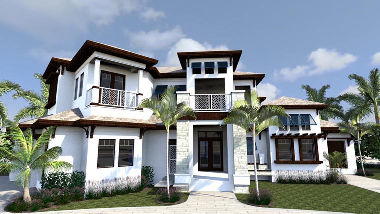House plan 71523 at for West indies style home plans