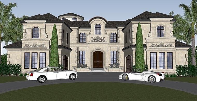 Florida, Mediterranean House Plan 71526 with 4 Beds, 7 Baths, 4 Car Garage Elevation