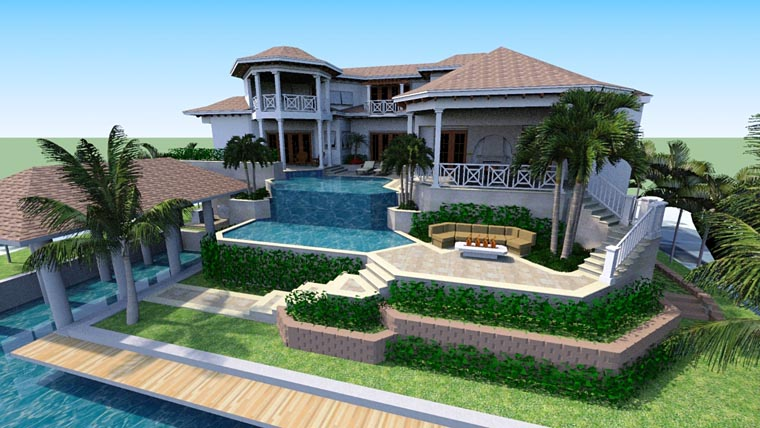 Florida Mediterranean House Plan 71530 Rear Elevation