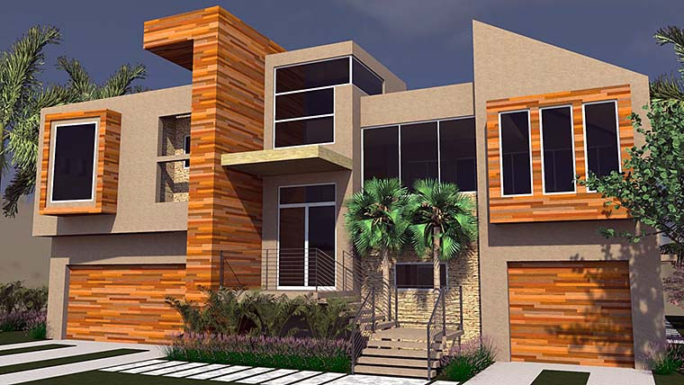 Contemporary Modern House Plan 71533 Elevation