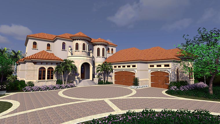 House plan 71540 at for Mediterranean house numbers