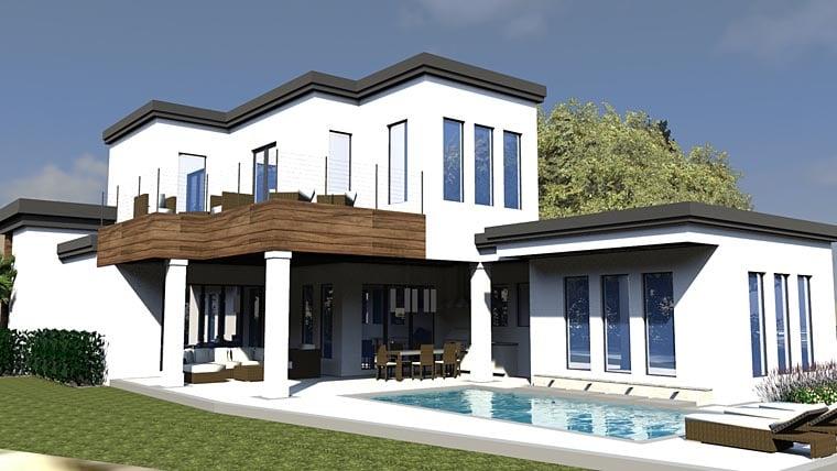 Contemporary Modern House Plan 71545 Rear Elevation