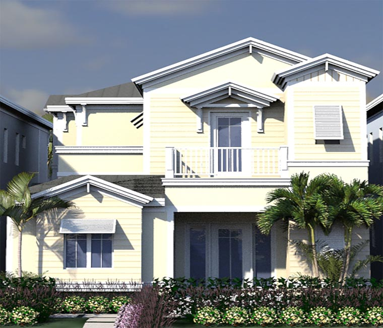 Coastal, Contemporary, Florida House Plan 71547 with 4 Beds, 5 Baths, 2 Car Garage Elevation