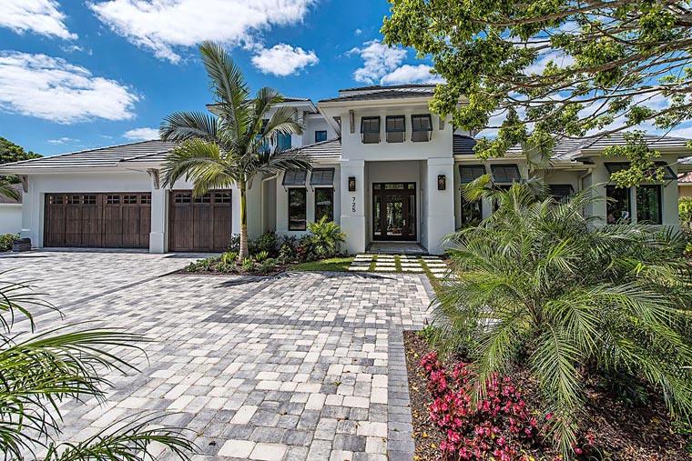 Coastal Florida Mediterranean House Plan 71552 Elevation