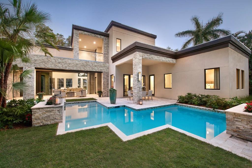 contemporary modern house plan 71554 rear elevation