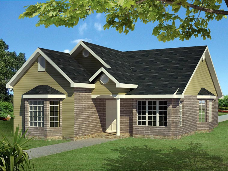 Ranch, Traditional House Plan 71922 with 3 Beds, 3 Baths Elevation
